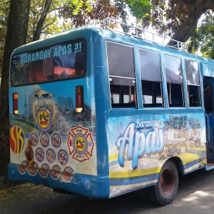 Barangay community bus generously shared to transport many for the Mama Ising's funeral mass.