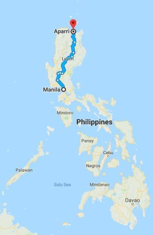 Manila to Aparri