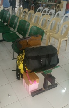 Bags in waiting area